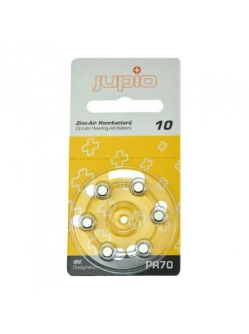 Baterii Alkaline Jupio pentru aparate auz, 10 Zinc Air Yellow PR70 6 bucati