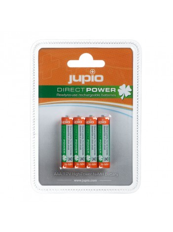 Baterii Jupio Reincarcabile cu descarcare lenta AAA 850 mAh 4  bucati DIRECT POWER (>80%)