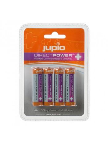 Baterii Jupio Reincarcabile cu descarcare lenta AA 2500 mAh 4  bucati DIRECT POWER PLUS (>90%), 1 An Garantie