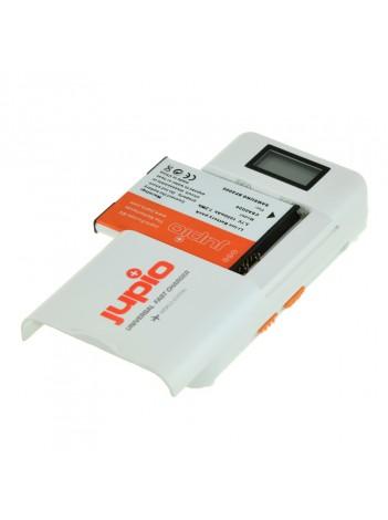 Incarcator Jupio Universal Li-Ion - AA + 2.1A USB Fast Charger LCD version (World Edition), 3 Ani Garantie