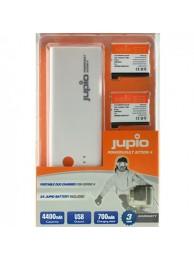 Kit Acumulator Extern Jupio Power Vault JPV0100(Compatibil GoPro 4, 2 baterii incluse), 3 Ani Garantie