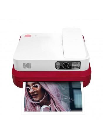 Aparat foto instant Kodak Smile Classic, Bluetooth, Imprimare Termica, Rosu