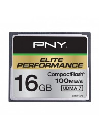 PNY 16GB Elite Performance (Video FullHD, 3D, 4K) Compact Flash UDMA 7, 100/50MB/s, WaterProof, ShockProof, Temperature Proof, Magnet Proof
