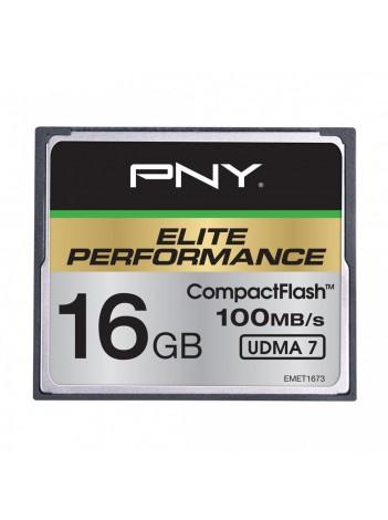 PNY 16GB Elite Performance (Video FullHD, 3D, 4K) Compact Flash UDMA 7, 100/50MB/s, WaterProof, ShockProof, Temperature Proof, Magnet Proof