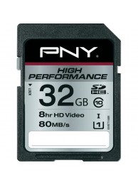 PNY 32GB High Performance (Video FullHD) SDHC 80/40MB/s UHS-I, Class 10, WaterProof, ShockProof, Temperature Proof