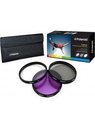 Set 3 Filtre Polaroid (UV, CPL, FLD) 82mm, include Husa