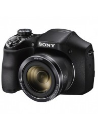 Sony Cyber-Shot DSC-H300, 20.2MPx, 35x Zoom Optic, 720p, Negru + Card SDBC 8GB + Incarcator Sony cu 4 Acumulatori
