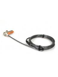 Cablu Antifurt cu cifru si Slot T Port Designs pentru Laptop, Desktop, Monitoare sau alte Dispozitive, Rezistent la Taiere