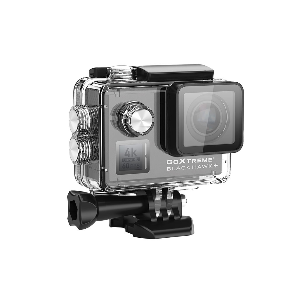 Camera Video Sport GoXtreme Black Hawk + 4K @60fps, (Include 6 Accesorii)