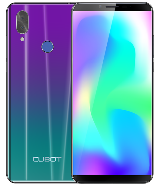 "Telefon Mobil CUBOT X19, 4G, 5.93"" FHD+, 4+64GB, Android 9, Gradient (include Husa Silicon si Folie)"