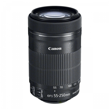 Obiectiv Canon EF-S 55-250mm f/4-5.6 IS STM - Tele Zoom + CashBack Canon 140Lei
