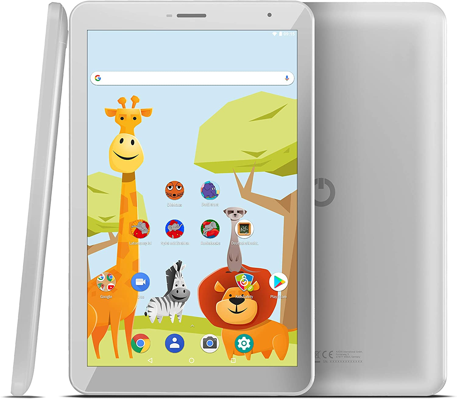 "Tableta Odys Junior 8 PRO, 8"" IPS HD, 4Core 1.3 GHz, 2GB + 16GB, Android 8.1,Alb, Include Husa Silicon"
